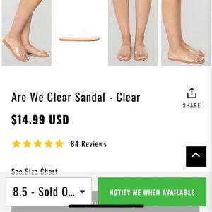 Fashion Nova Shoes - Fashion nova clear sandal 6